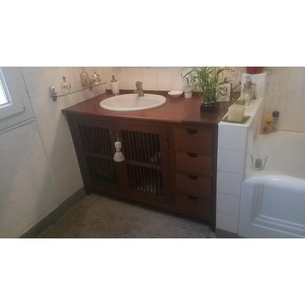 Meuble de salle de bain ebenisterie delfino - Meuble salle de bain fin de serie ...