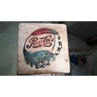 gravure bois plaque decorative VINTAGE pepsi cola